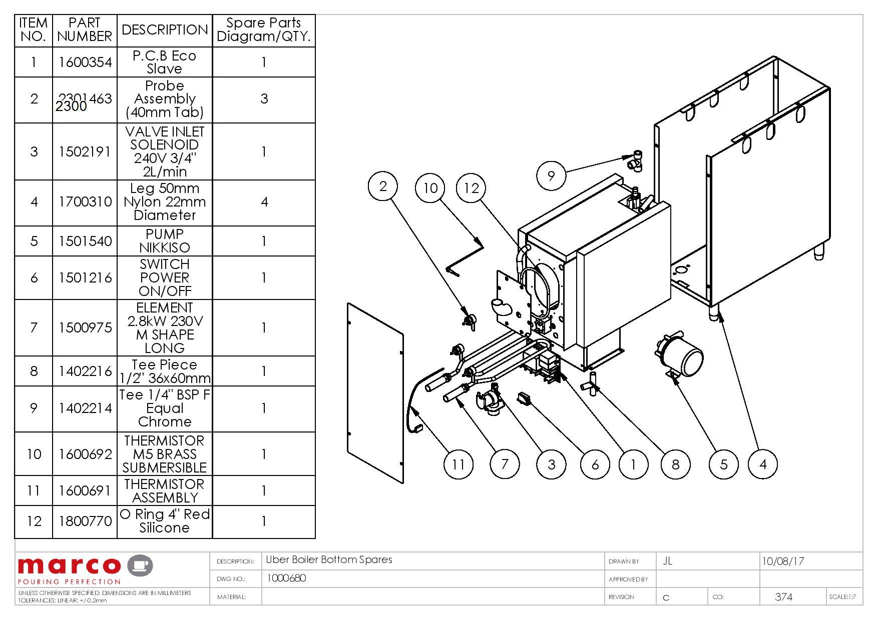 Über boiler marco beverage systems ltd